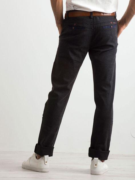 Ciemnoszare spodnie męskie                              zdj.                              2