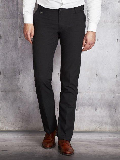 Ciemnoszare spodnie męskie straight