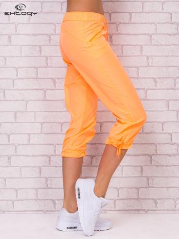 Ciemnoszare spodnie sportowe capri z wiązaniem                                  zdj.                                  6