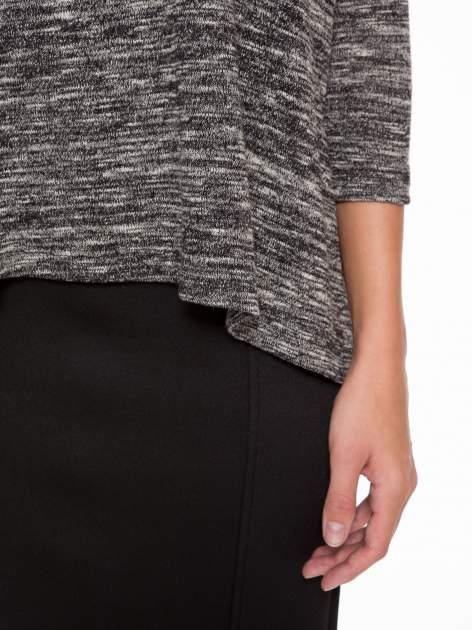 Ciemnoszary melanżowy sweter z rękawami 3/4                                  zdj.                                  6