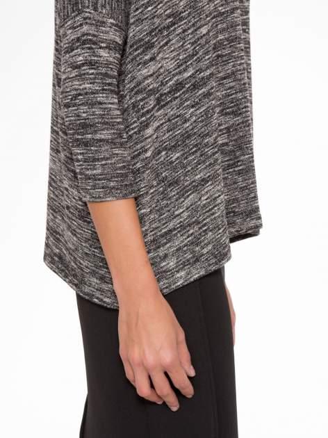 Ciemnoszary melanżowy sweter z rękawami 3/4                                  zdj.                                  7