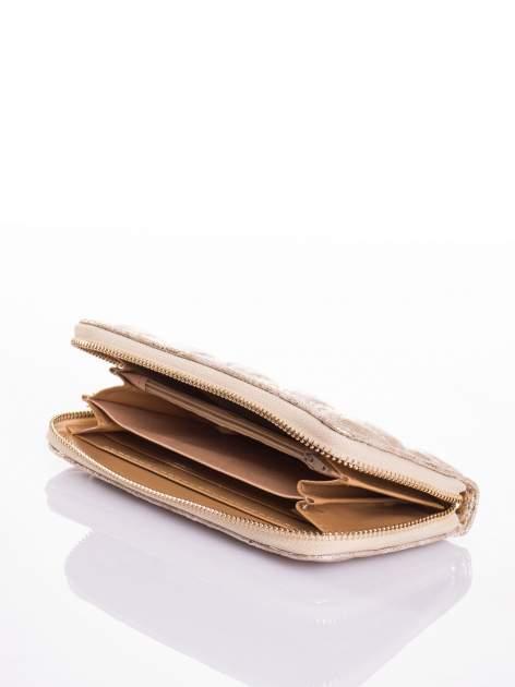 Ciemnoszary pikowany portfel                                  zdj.                                  3