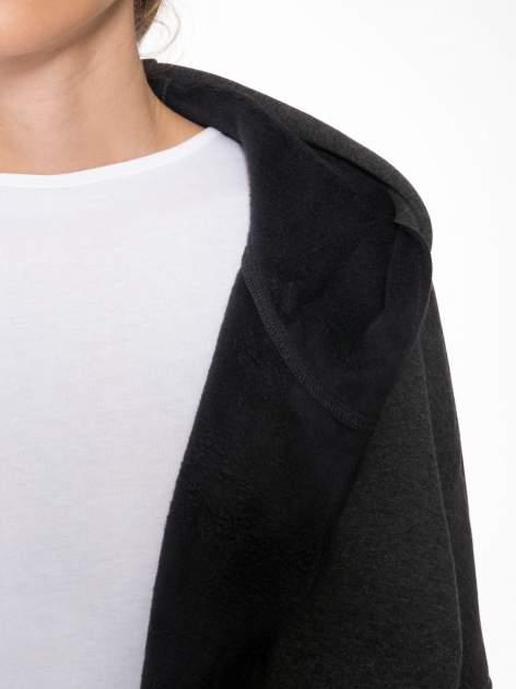 Ciemnoszary płaszczyk dresowy bluza z kapturem                                  zdj.                                  7