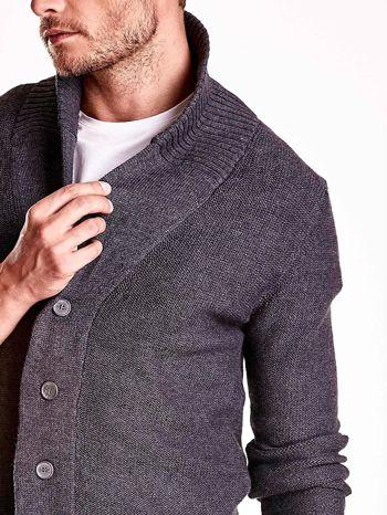 Ciemnoszary sweter męski zapinany na guziki FUNK N SOUL                                  zdj.                                  6
