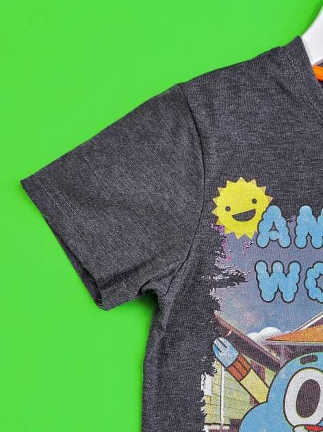 Ciemnoszary t-shirt chłopięcy GUMBALL                                  zdj.                                  3