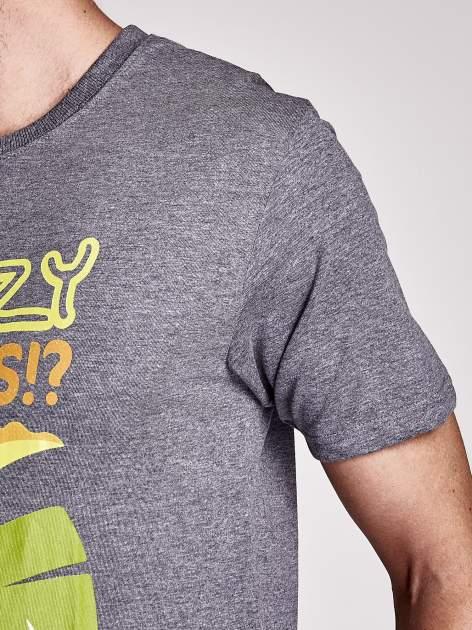 Ciemnoszary t-shirt męski KRÓL JULIAN                                  zdj.                                  7