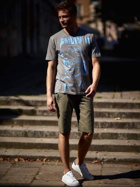 Ciemnoszary t-shirt męski SMERFY                                  zdj.                                  15