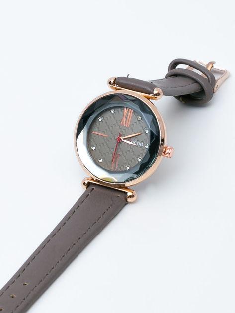 Ciemnoszary zegarek damski