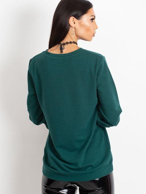 Ciemnozielona bluza Promise                              zdj.                              2