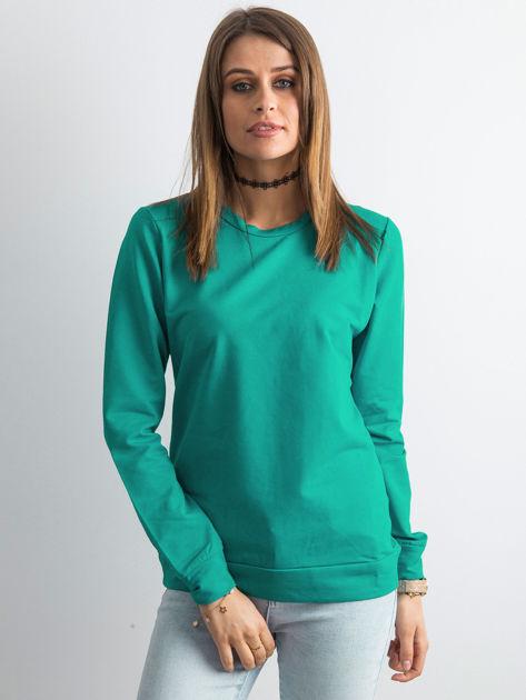 Ciemnozielona bluza damska basic                              zdj.                              1