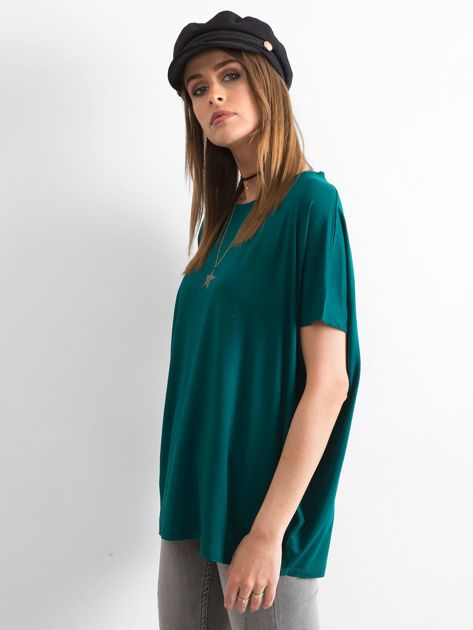 Ciemnozielona bluzka Oversize                              zdj.                              3