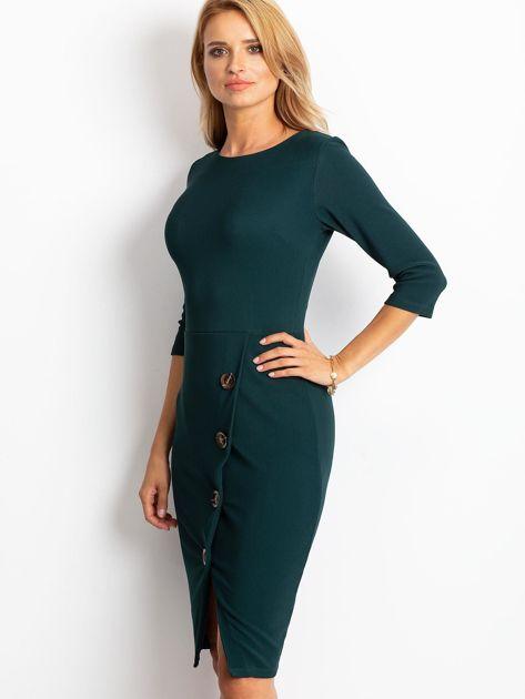 Ciemnozielona sukienka Shape                              zdj.                              3