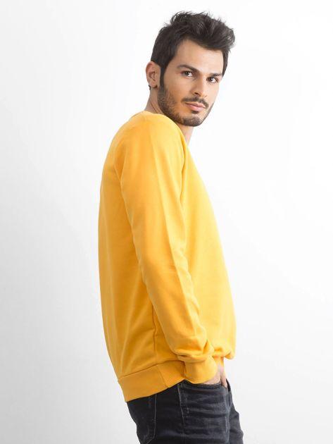 Ciemnożółta bawełniana bluza męska                              zdj.                              3