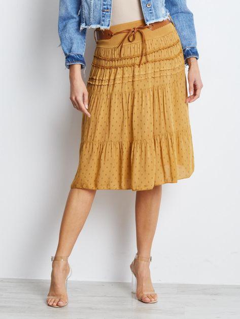 Ciemnożółta spódnica Charges                              zdj.                              1