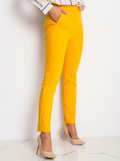 Ciemnożółte spodnie Favorite                              zdj.                              3