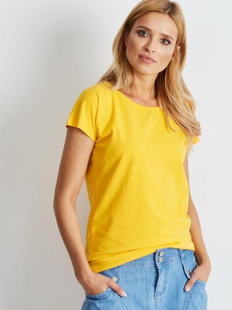 Ciemnożółty t-shirt Circle                              zdj.                              3
