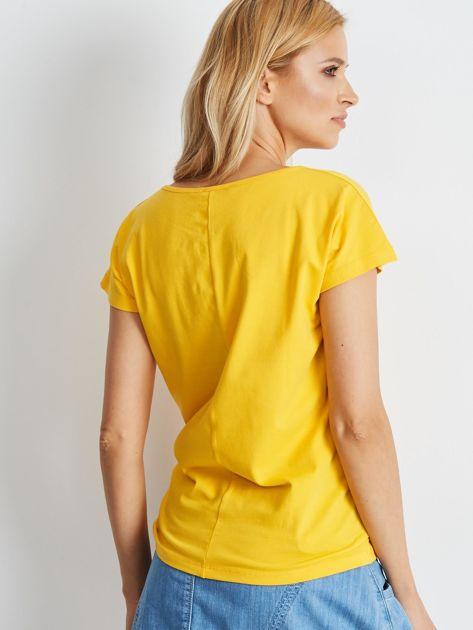 Ciemnożółty t-shirt Circle                              zdj.                              2