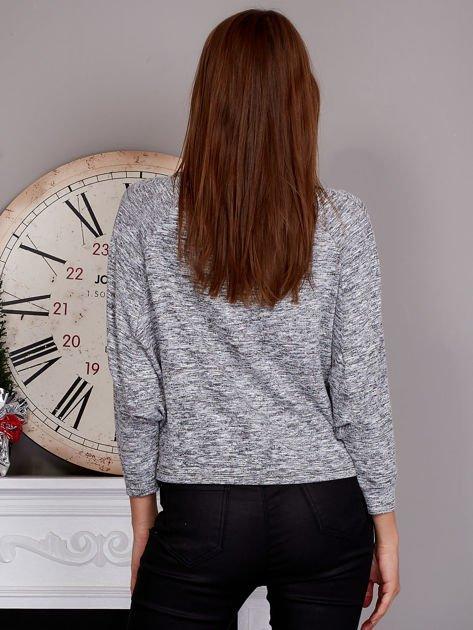 Cienki nietoperzowy sweter szary                              zdj.                              2