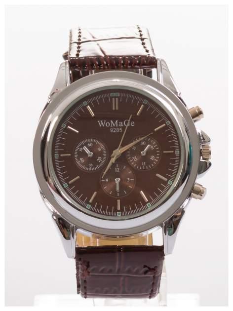 Cudny zegarek damski na brązowym pasku                                  zdj.                                  1