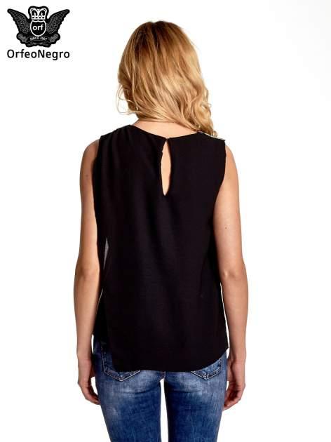 Czarna asymetryczna koszula                                   zdj.                                  4