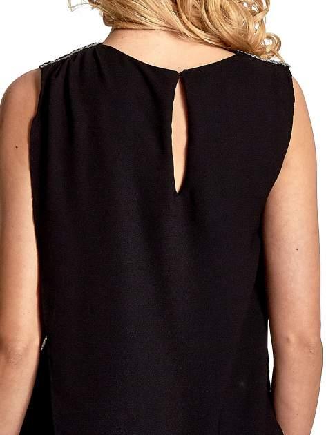 Czarna asymetryczna koszula                                   zdj.                                  6