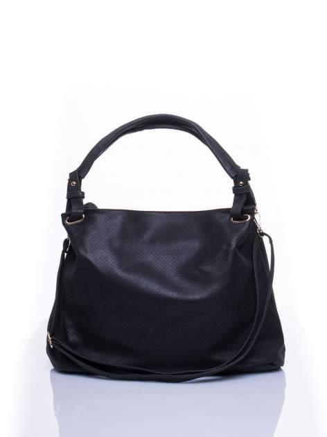 Czarna ażurowa torba na ramię