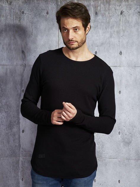 Czarna bawełniana bluzka męska