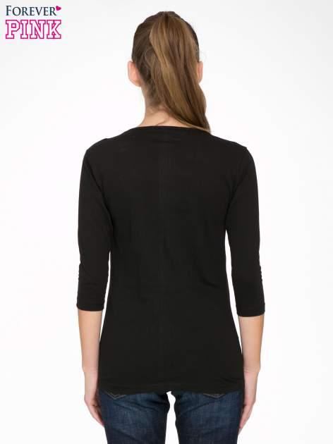 Czarna bawełniana bluzka z motywem kwiatowym                                  zdj.                                  4