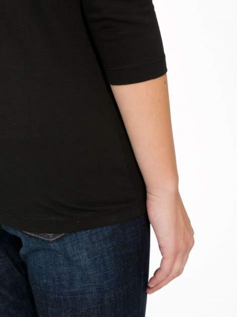 Czarna bawełniana bluzka z motywem kwiatowym                                  zdj.                                  9