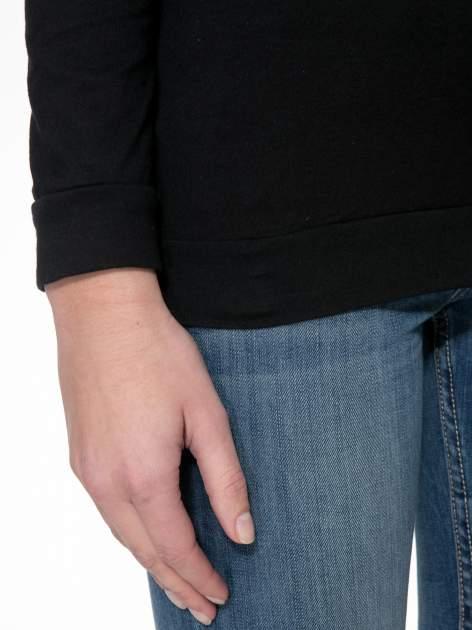Czarna bawełniana bluzka z rękawami typu reglan                                  zdj.                                  6