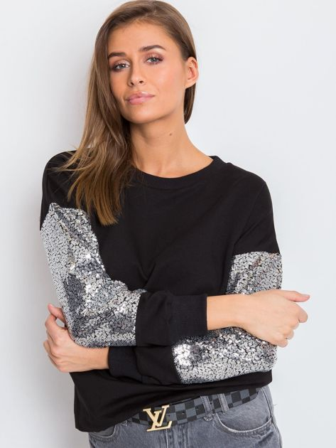 Czarna bluza Mirror                              zdj.                              5