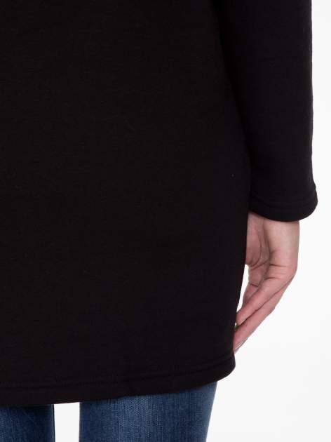 Czarna bluza dresowa z kapturem i suwakiem z boku                                  zdj.                                  11