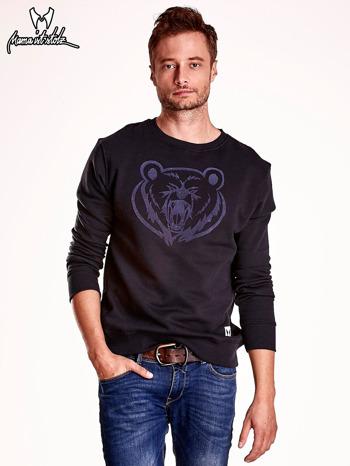 Czarna bluza męska z niedźwiedziem                                  zdj.                                  2