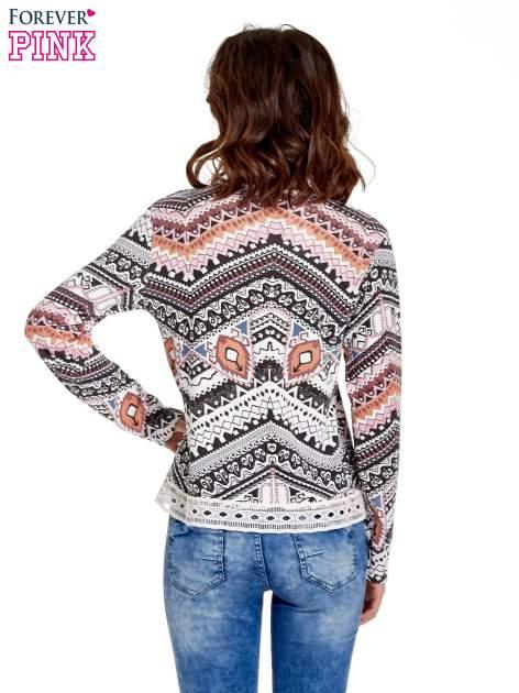 Czarna bluza w azteckie wzory z gipiurą                                  zdj.                                  4