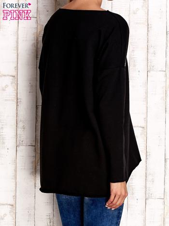 Czarna bluza z błyszczącymi gwiazdkami                                  zdj.                                  4