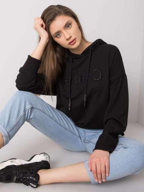 Czarna bluza z kapturem Nellie