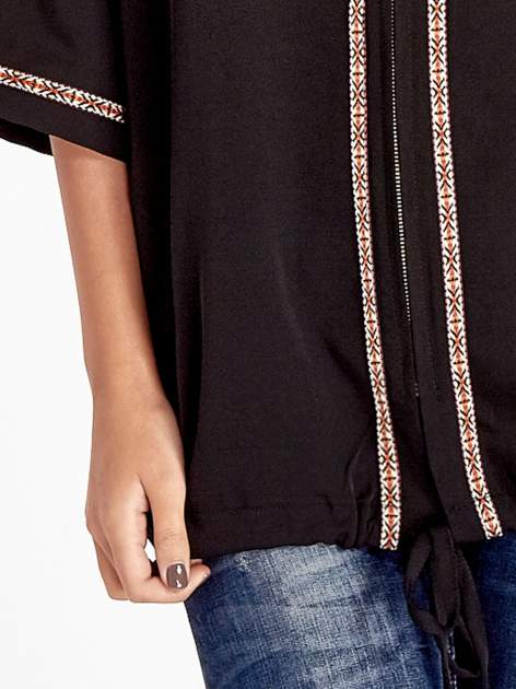 Czarna bluza z kapturem w stylu boho                                  zdj.                                  6