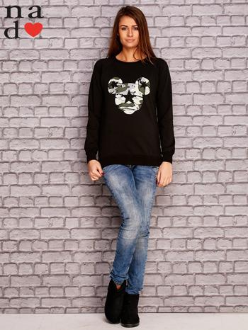 Czarna bluza z nadrukiem moro                                  zdj.                                  2