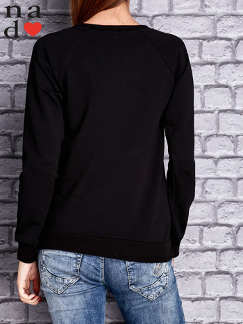 Czarna bluza z napisem LOVE                                  zdj.                                  4