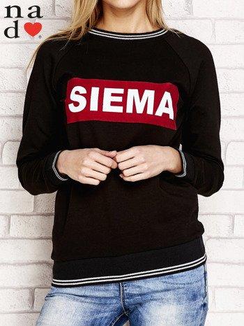 Czarna bluza z napisem SIEMA                                  zdj.                                  1