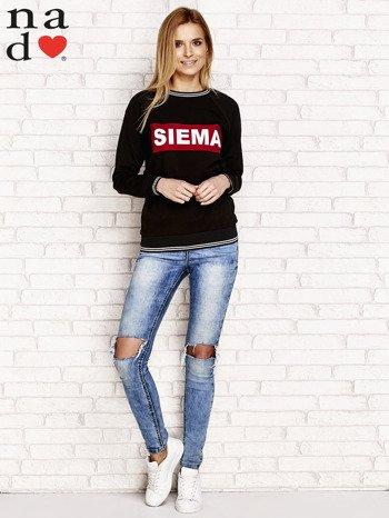 Czarna bluza z napisem SIEMA                                  zdj.                                  4