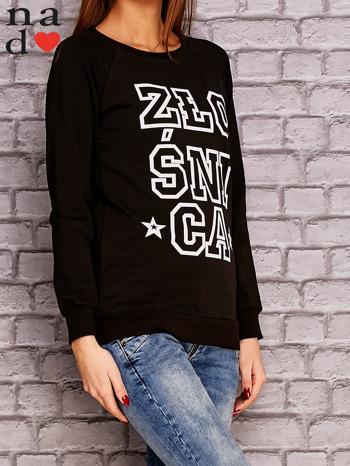 Czarna bluza z napisem ZŁOŚNICA                                  zdj.                                  4