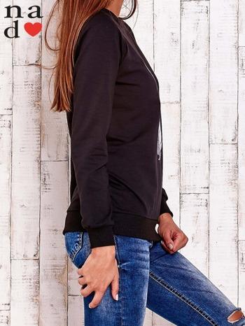 Czarna bluza z piórkiem                                  zdj.                                  4