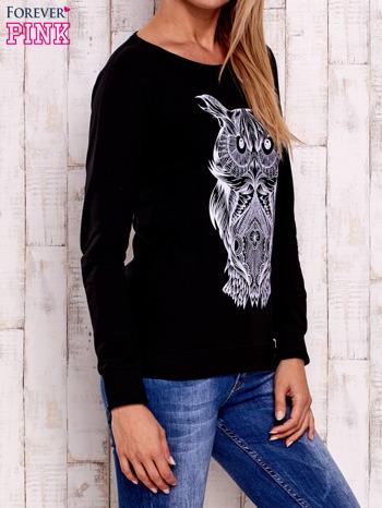 Czarna bluza z sową                                  zdj.                                  3
