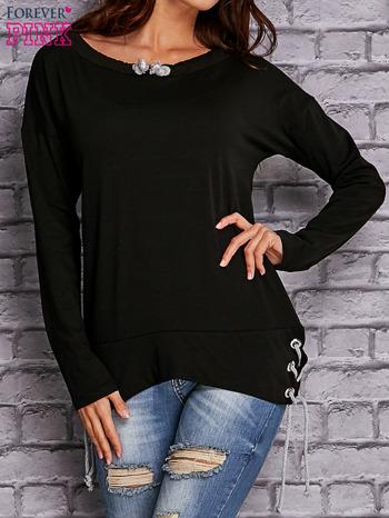 Czarna bluza z wiązaniami                                   zdj.                                  1
