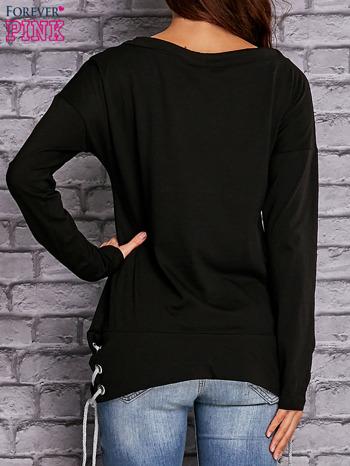 Czarna bluza z wiązaniami                                   zdj.                                  4