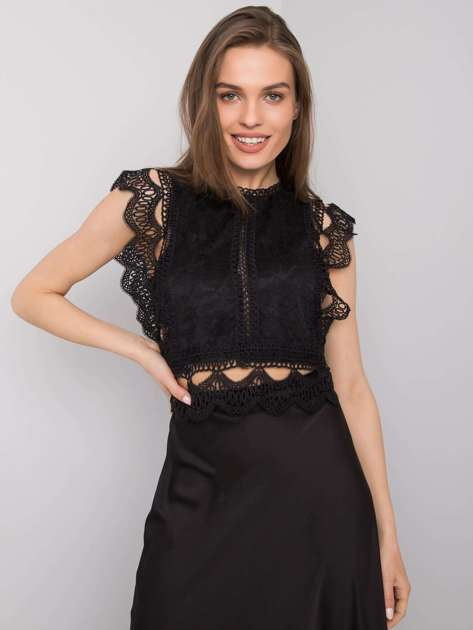 Czarna bluzka koronkowa Tavia