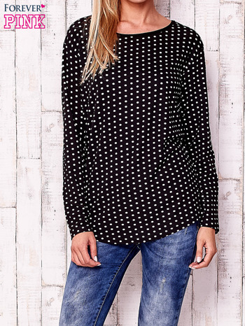 Czarna bluzka w groszki                                  zdj.                                  1