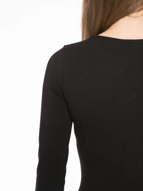 Czarna bluzka z dekoltem cut out                                  zdj.                                  10