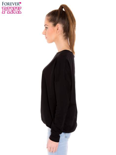 Czarna bluzka z gumką u dołu                                  zdj.                                  2